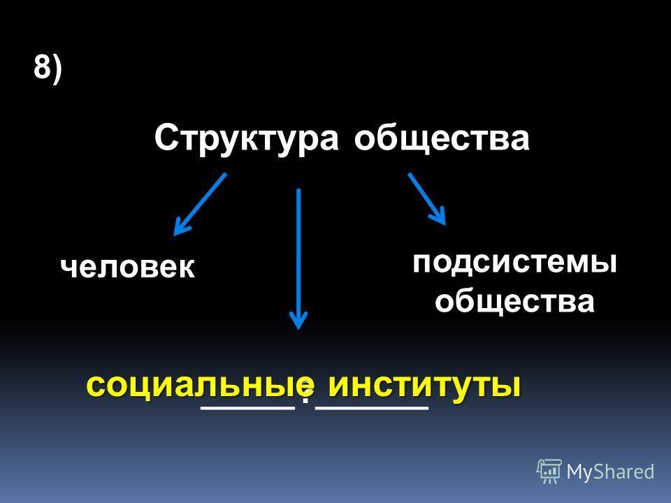 7) «Деградация, возврат к уже отжившим социальным институтам и отношениям – это _____________», регресс