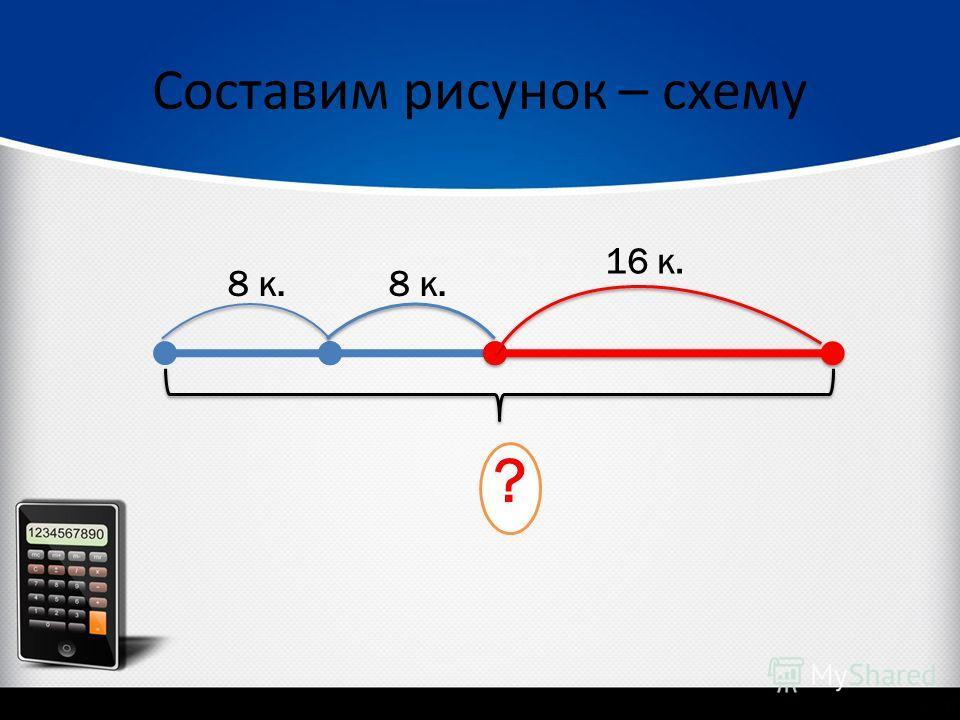 Составим рисунок – схему 8 к. 16 к. ?