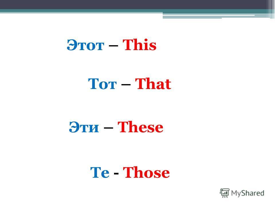 Указательные местоимения 3 класс презентация по английскому скачать