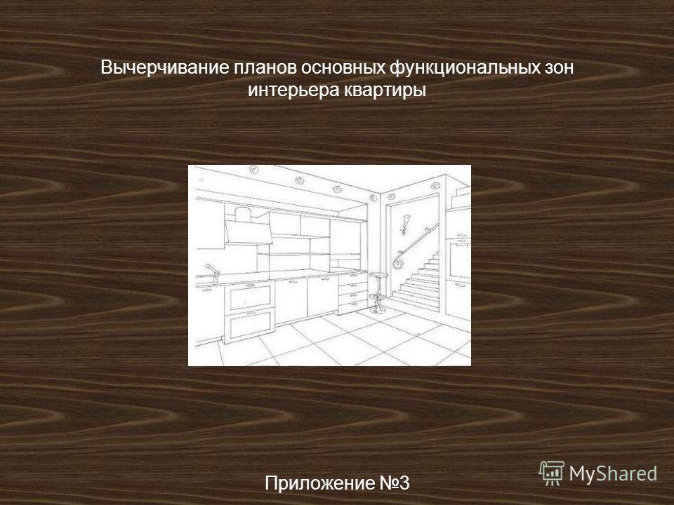 Вычерчивание планов основных функциональных зон интерьера квартиры Приложение 3