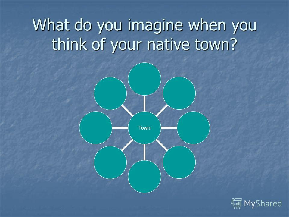 What do you imagine when you think of your native town? Town
