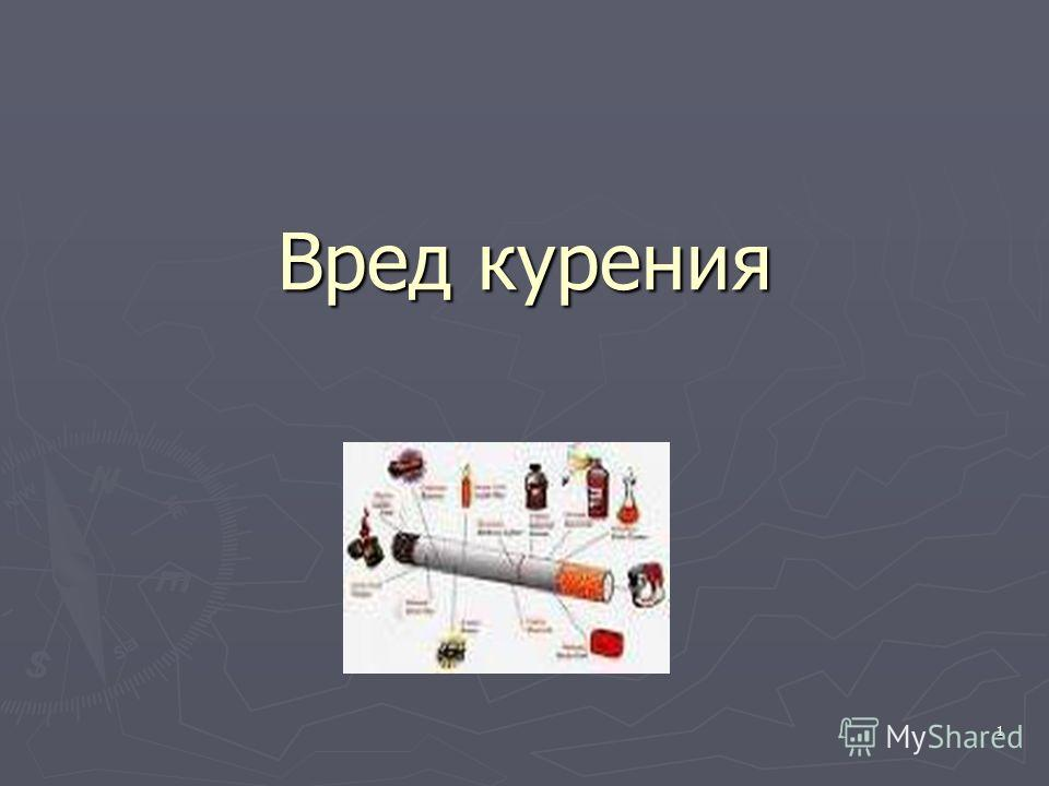 1 Вред курения