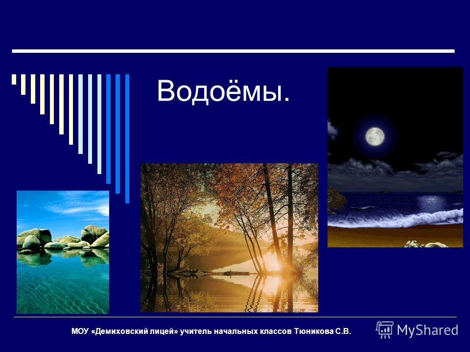 Водоёмы. МОУ «Демиховский лицей» учитель начальных классов Тюникова С.В.