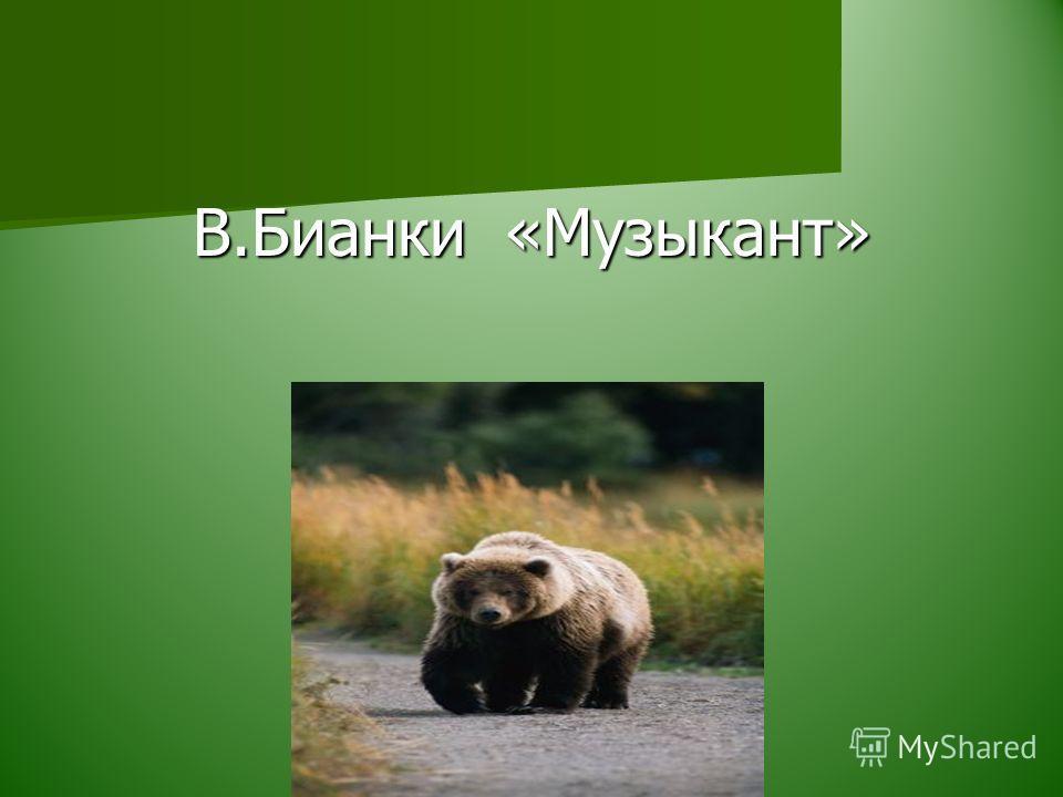 В.Бианки «Музыкант»