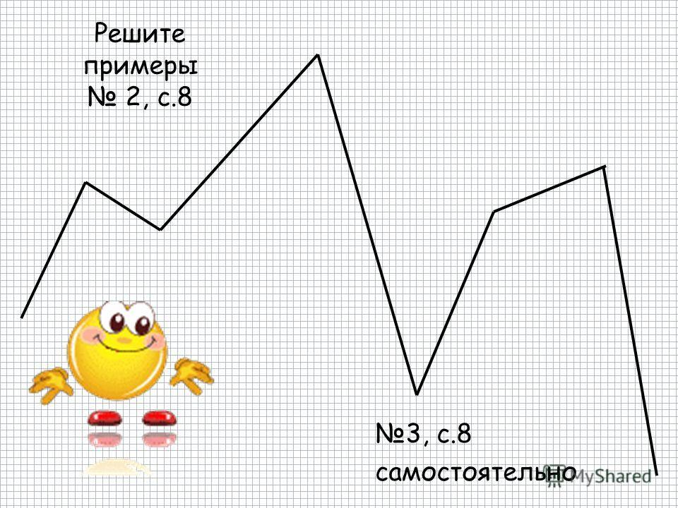 Решите примеры 2, с.8 3, с.8 самостоятельно