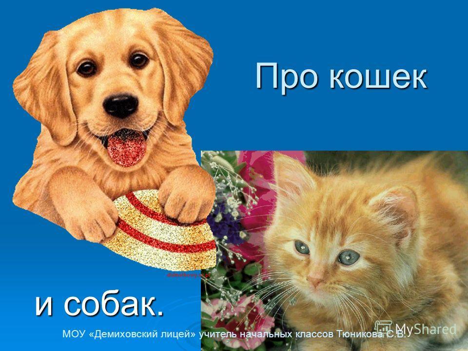 Про кошек и собак. МОУ «Демиховский лицей» учитель начальных классов Тюникова С.В.