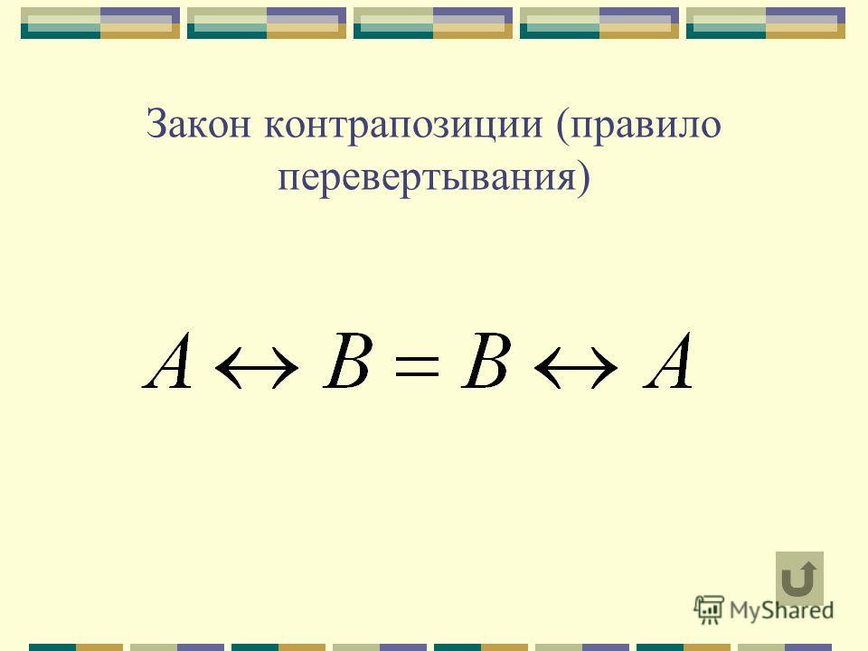 Закон контрапозиции (правило перевертывания)