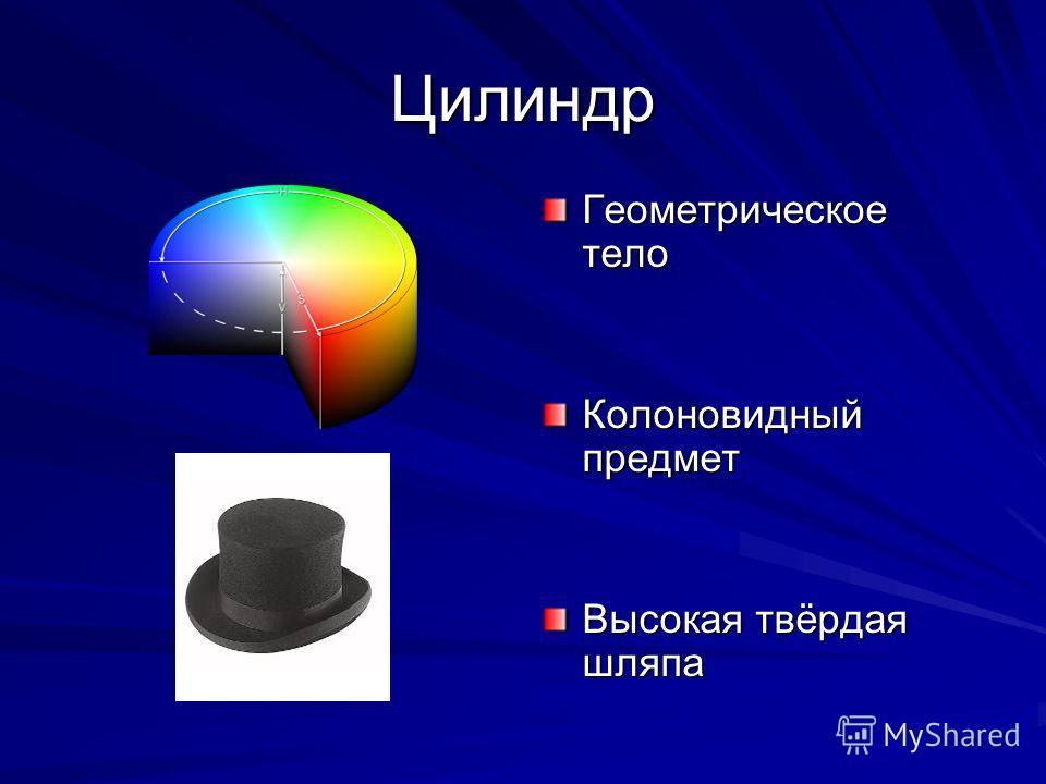 Цилиндр Геометрическое тело Колоновидный предмет Высокая твёрдая шляпа