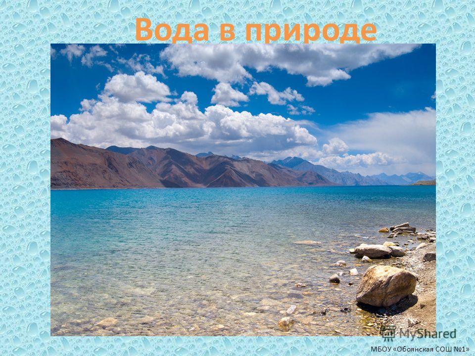 Вода в природе МБОУ «Обоянская СОШ 1»