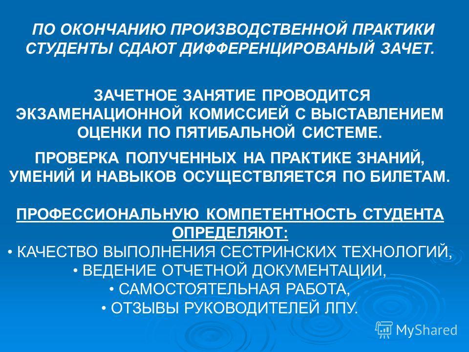 НА ЗАЩИТУ ПРАКТИКИ СТУДЕНТЫ ПРЕДОСТАВЛЯЮТ : ДНЕВНИК ПРОИЗВОДСТВЕННОЙ ПРАКТИКИ; ДНЕВНИК ПРОИЗВОДСТВЕННОЙ ПРАКТИКИ; ОТЧЕТ ПО ПРАКТИКЕ (ЦИФРОВОЙ И ТЕКСТОВОЙ); ОТЧЕТ ПО ПРАКТИКЕ (ЦИФРОВОЙ И ТЕКСТОВОЙ); ХАРАКТЕРИСТИКУ. ХАРАКТЕРИСТИКУ. Документы подписываю