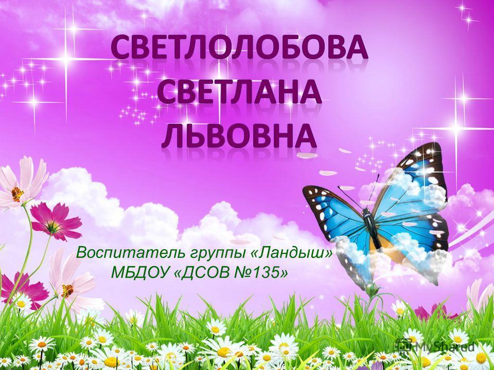 Воспитатель группы «Ландыш» МБДОУ «ДСОВ 135»