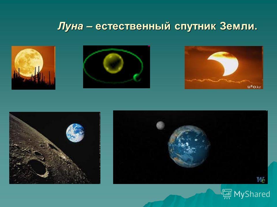 Луна – естественный спутник Земли. Луна – естественный спутник Земли.