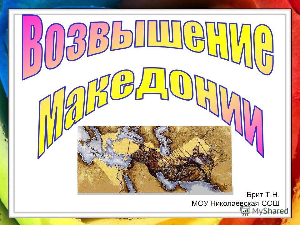 Брит Т.Н. МОУ Николаевская СОШ