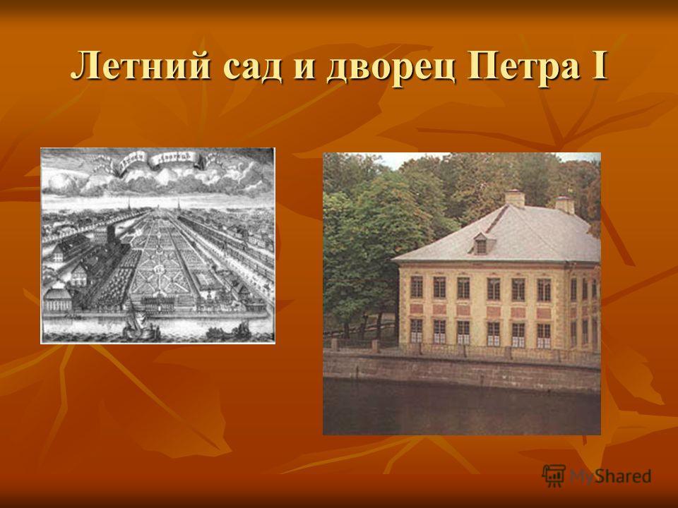 Летний сад и дворец Петра I