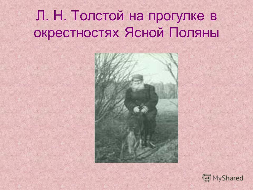 Л. Н. Толстой на прогулке в окрестностях Ясной Поляны