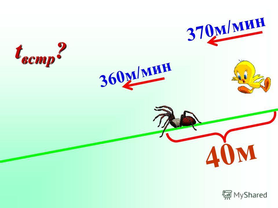 40м 360м/мин 370м/мин t встр ?