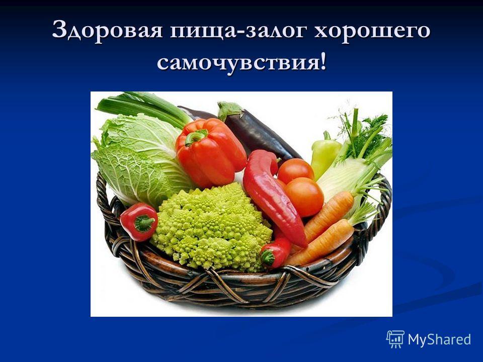 Здоровая пища-залог хорошего самочувствия!