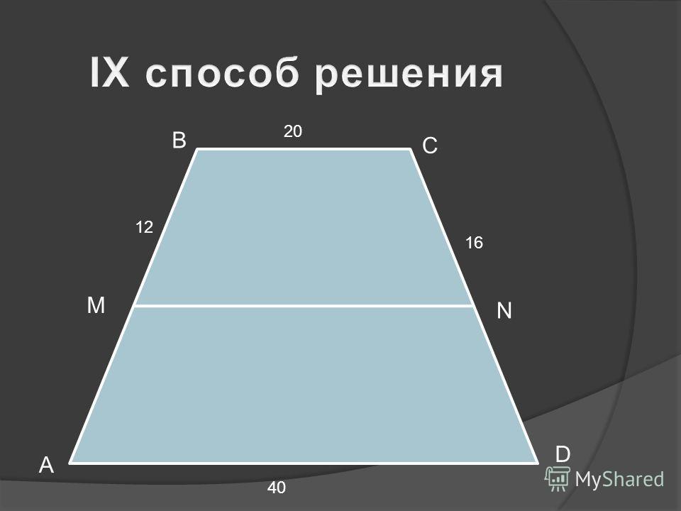 B C A D M N 16 12 40