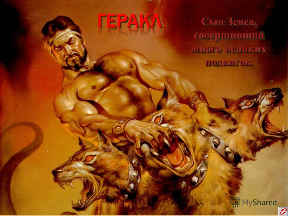 Сын Зевса, совершивший много великих подвигов. Сын Зевса, совершивший много великих подвигов.