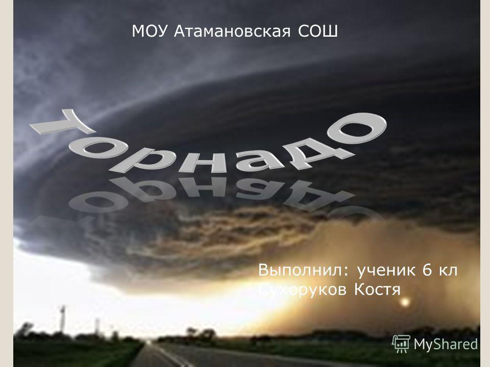 Выполнил: ученик 6 кл Сухоруков Костя МОУ Атамановская СОШ