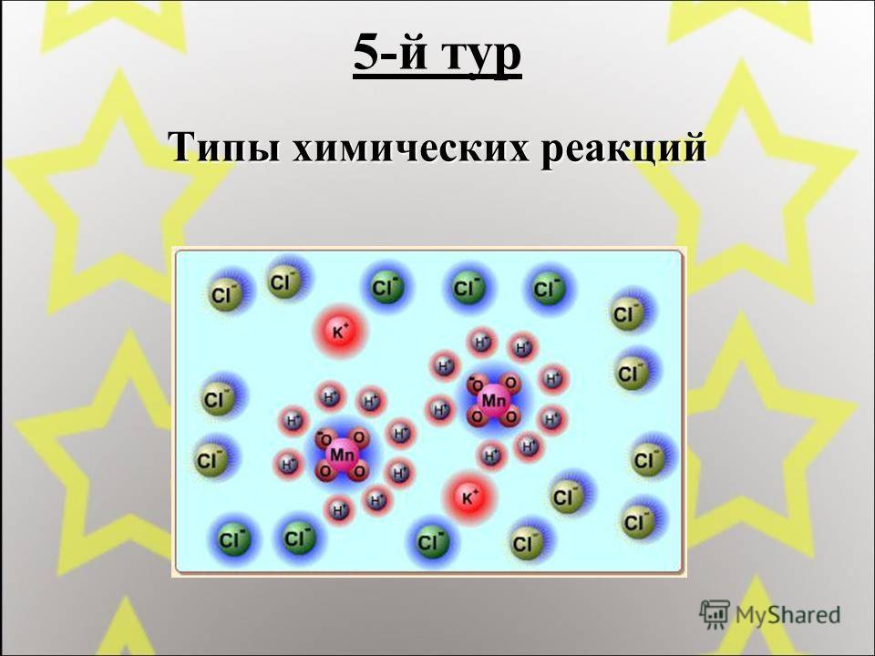 5-й тур Типы химических реакций