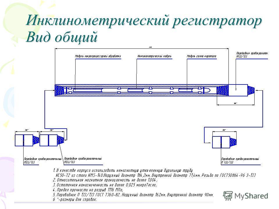 Инклинометрический регистратор Вид общий