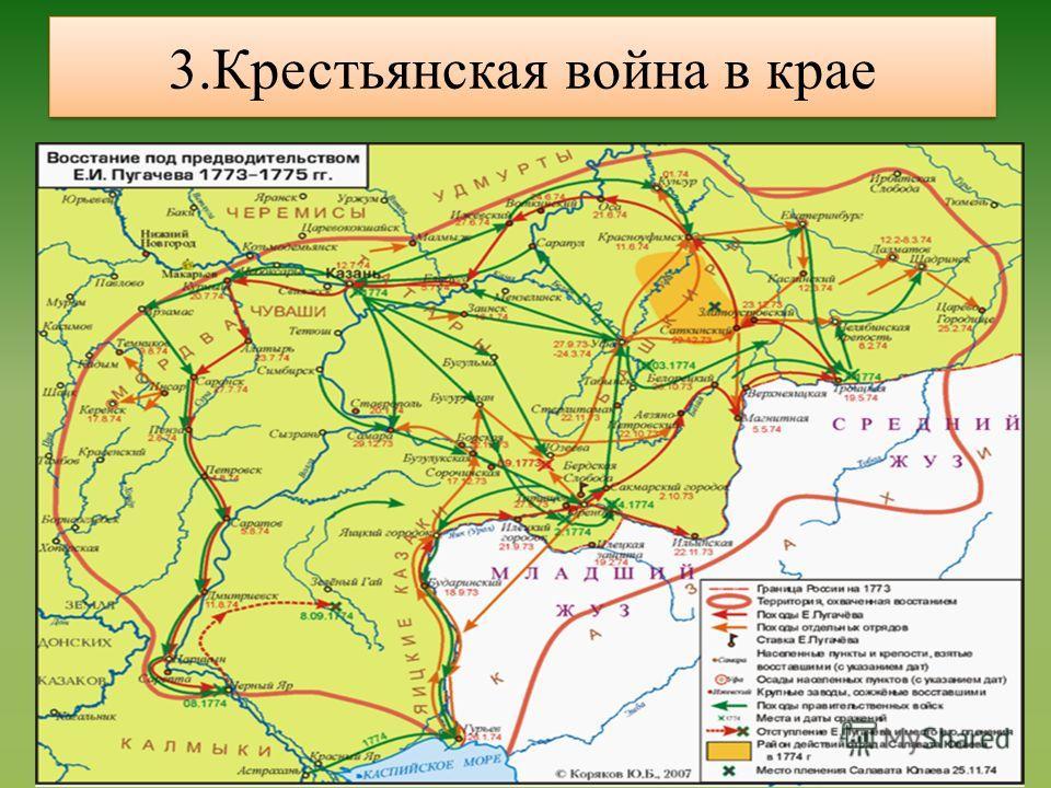 3.Крестьянская война в крае