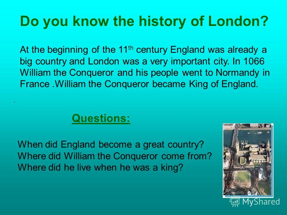 The City The East End The West End Westminster History