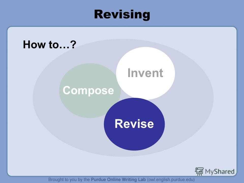 Revising Compose Invent Revise How to…?