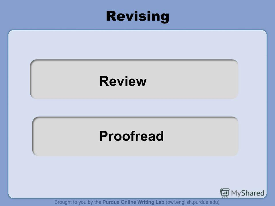 Review Proofread Revising