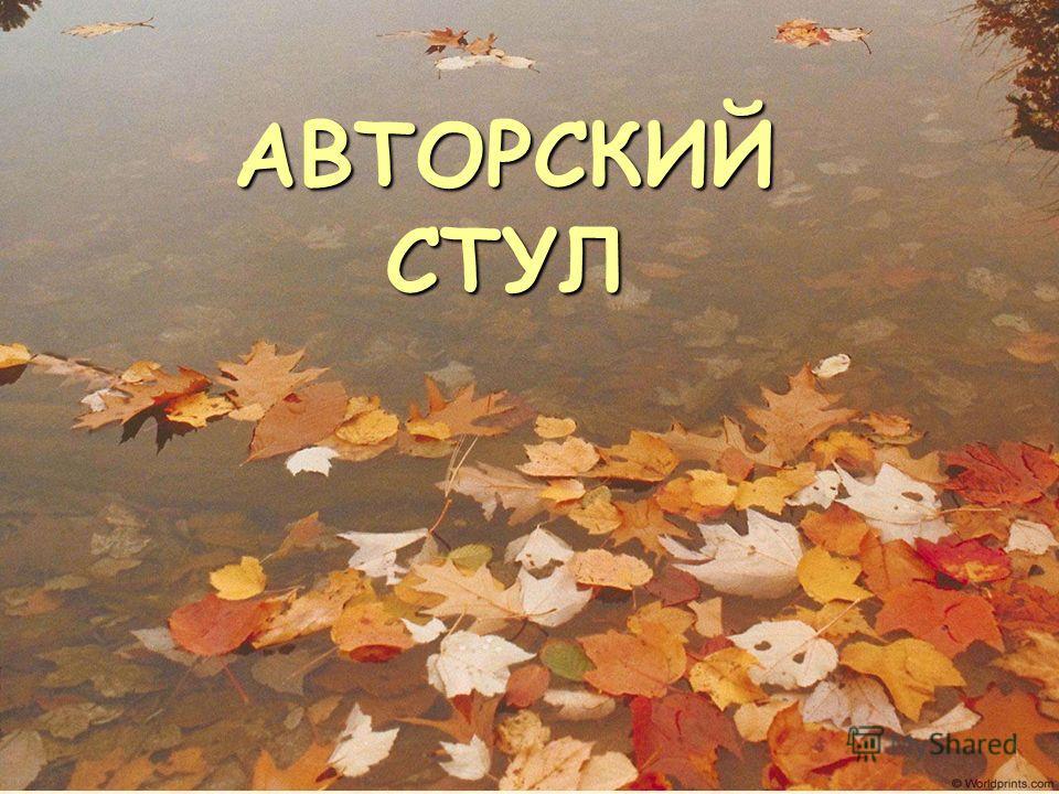 АВТОРСКИЙ СТУЛ
