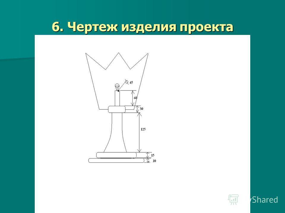 6. Чертеж изделия проекта