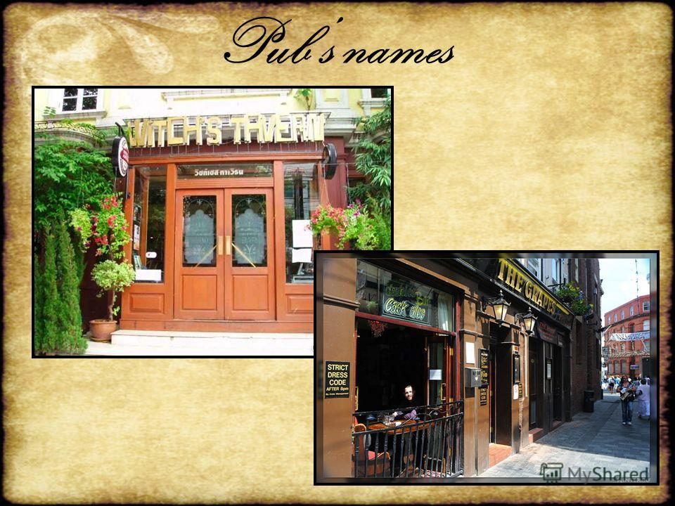 Pubs names