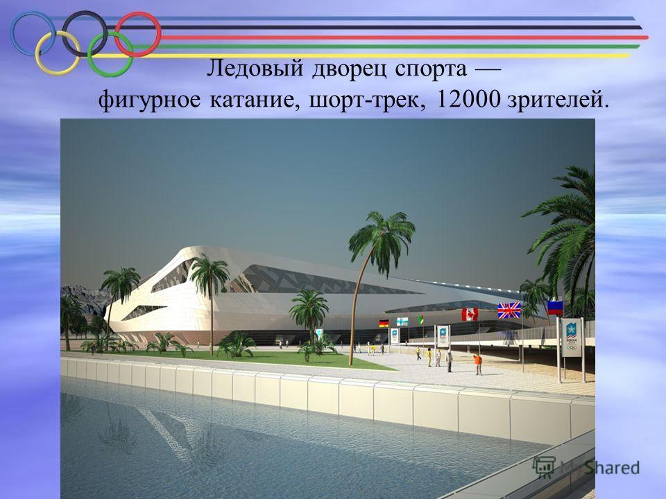 Ледовый дворец спорта фигурное катание, шорт-трек, 12000 зрителей.