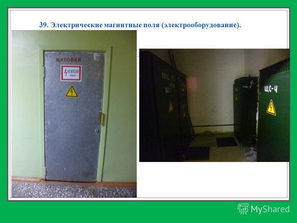 39. Электрические магнитные поля (электрооборудование).