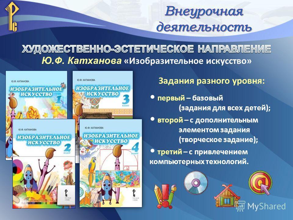 Задания разного уровня: первый – базовый (задания для всех детей); второй – с дополнительным элементом задания (творческое задание); третий – с привлечением компьютерных технологий.