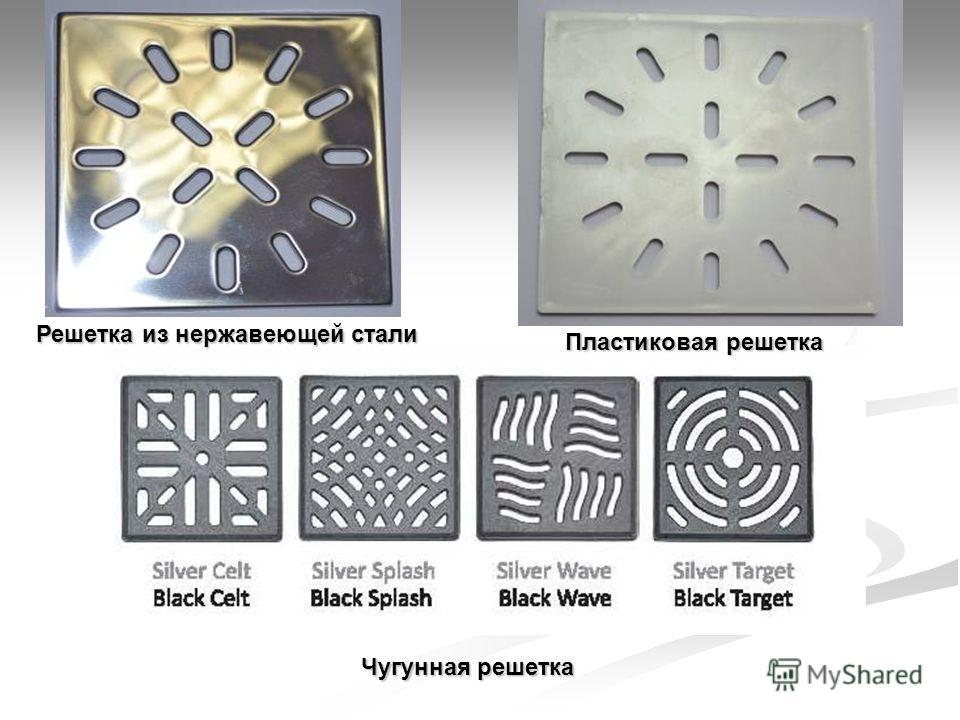 Пластиковая решетка Решетка из нержавеющей стали Чугунная решетка