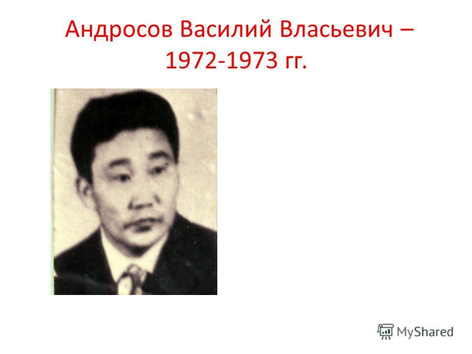 Андросов Василий Власьевич – 1972-1973 гг.