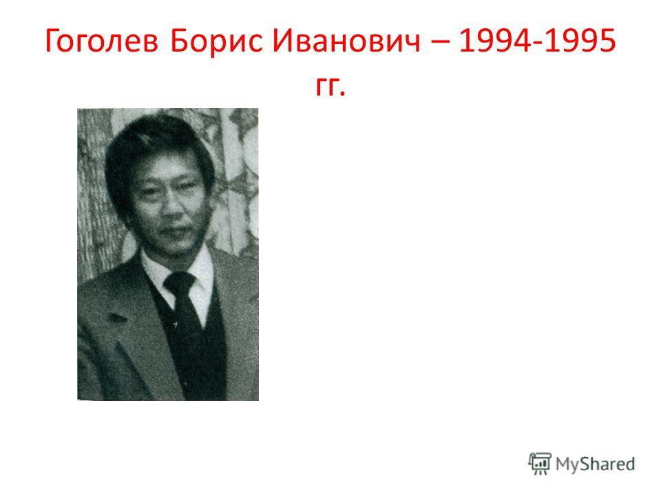Гоголев Борис Иванович – 1994-1995 гг.