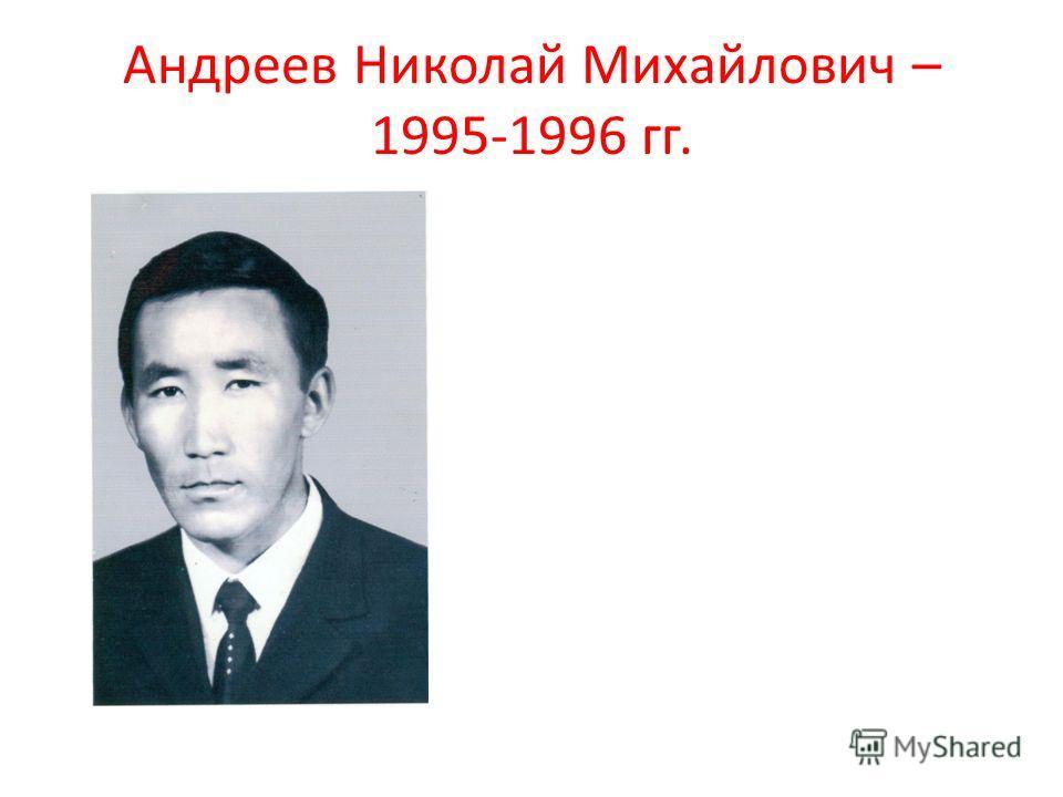 Андреев Николай Михайлович – 1995-1996 гг.