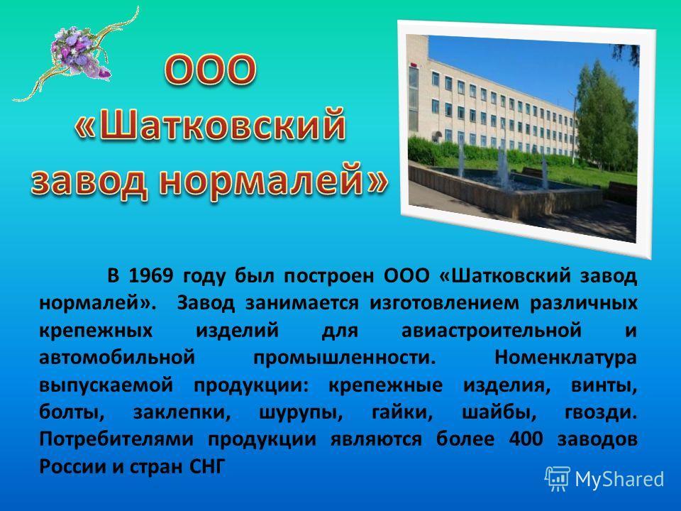 Больница в районном центре Шатки была основана в 1931 году. В самых старых корпусах ЦРБ в настоящее время располагаются инфекционное и туберкулезное отделения. Главный корпус современного стационара построен в 1967 году, пристрой к главному корпусу в