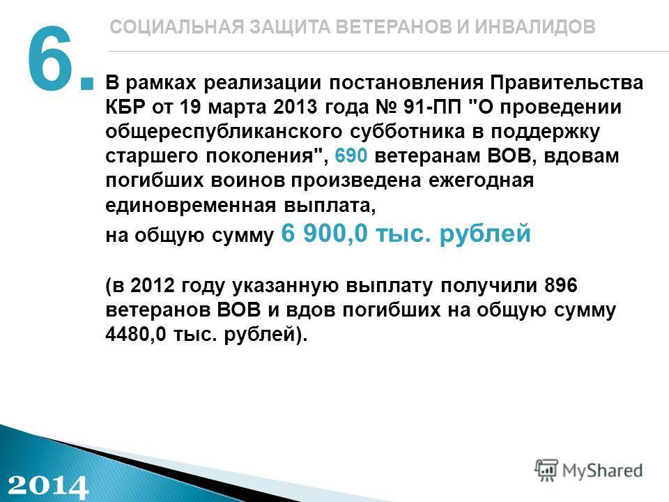 В рамках реализации постановления Правительства КБР от 19 марта 2013 года 91-ПП