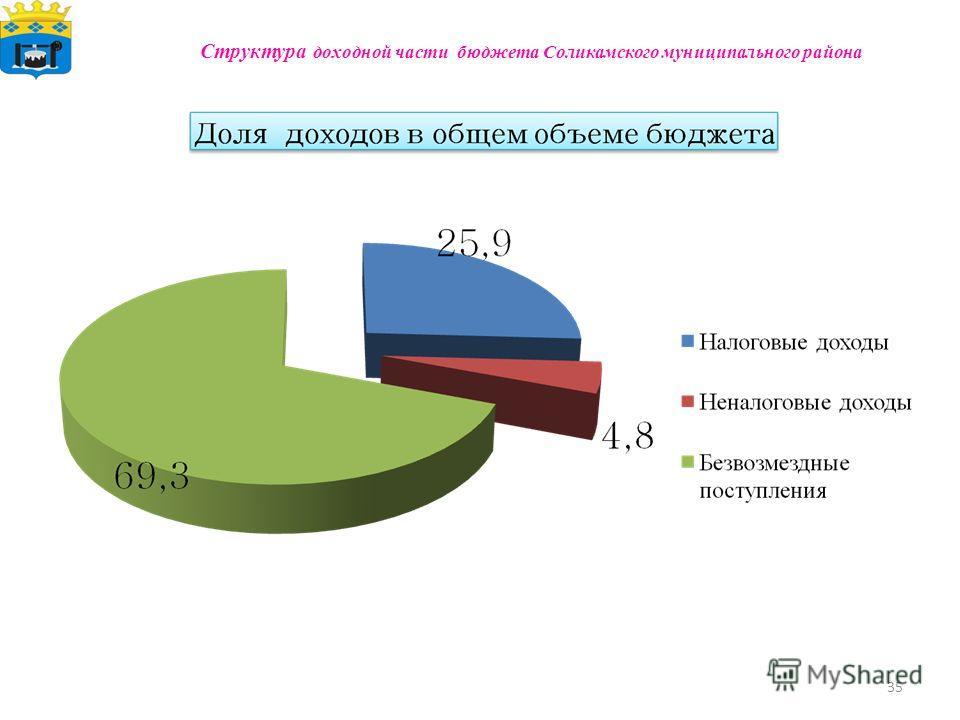 35 Структура доходной части бюджета Соликамского муниципального района