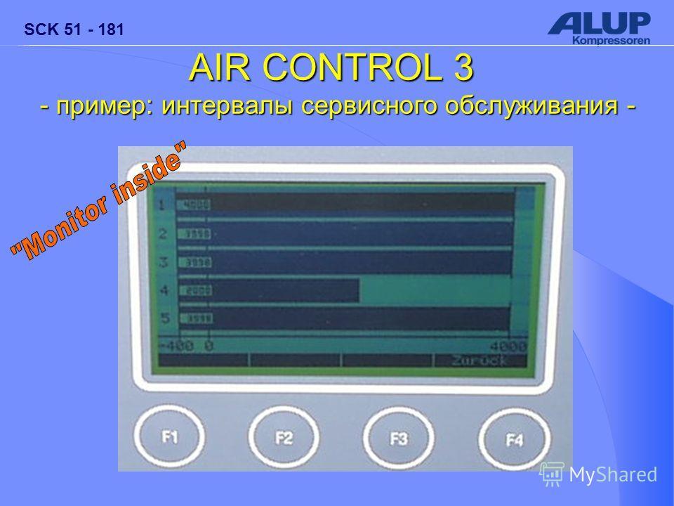 SCK 51 - 181 AIR CONTROL 3 - пример: интервалы сервисного обслуживания -