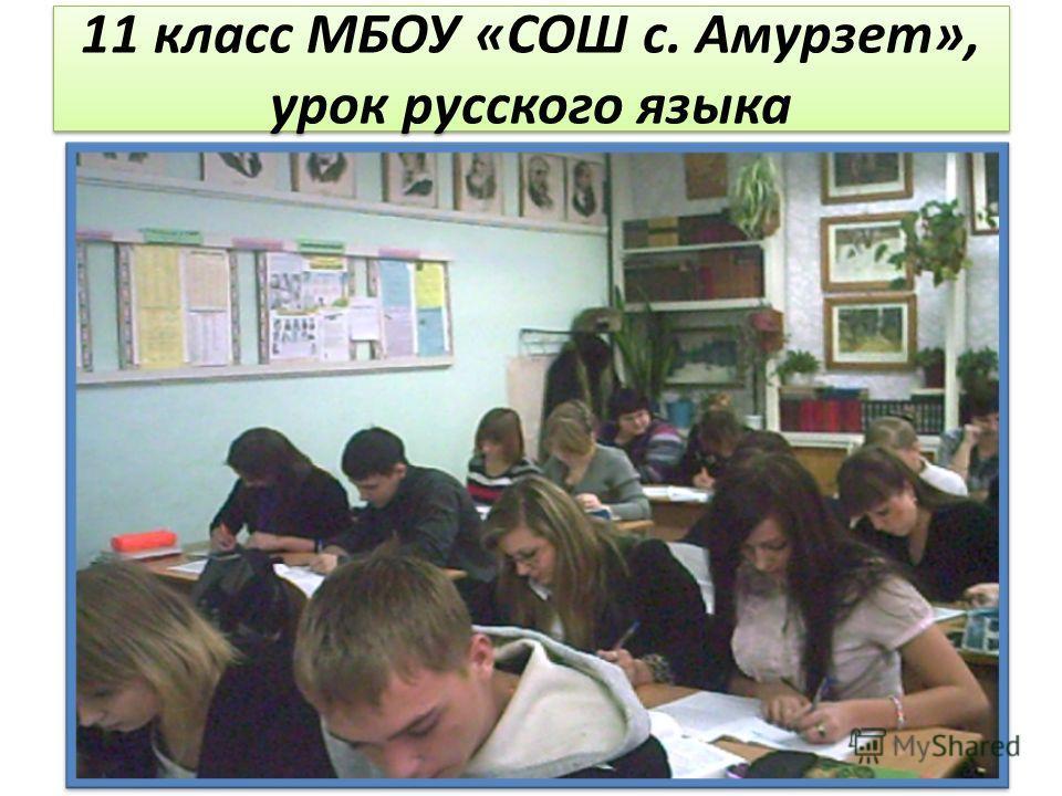 11 класс МБОУ «СОШ с. Амурзет», урок русского языка