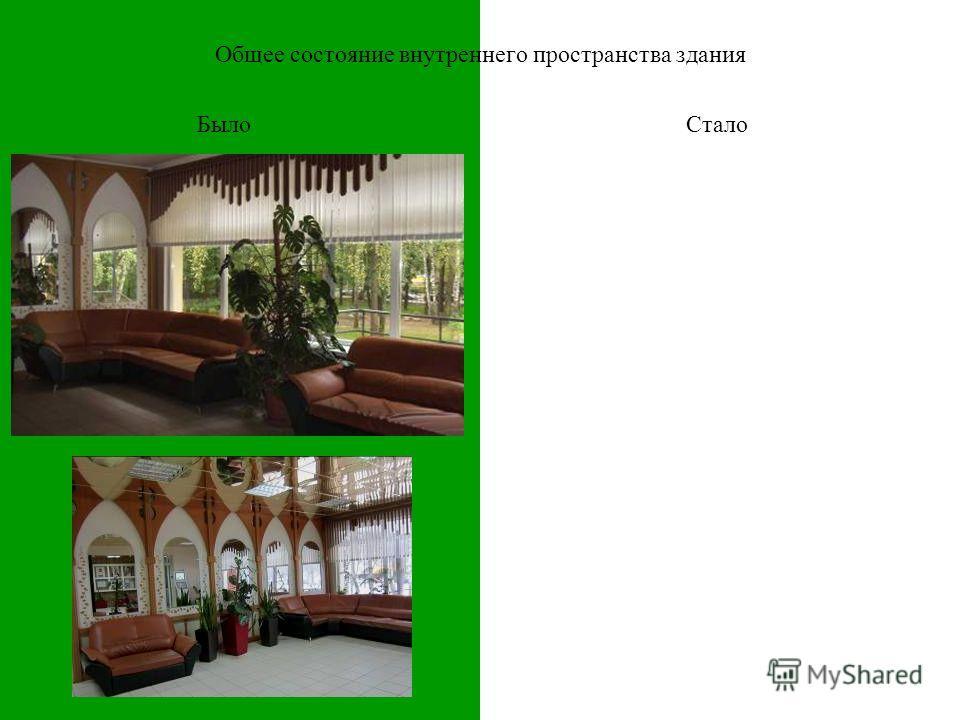 Было Общее состояние внутреннего пространства здания Стало