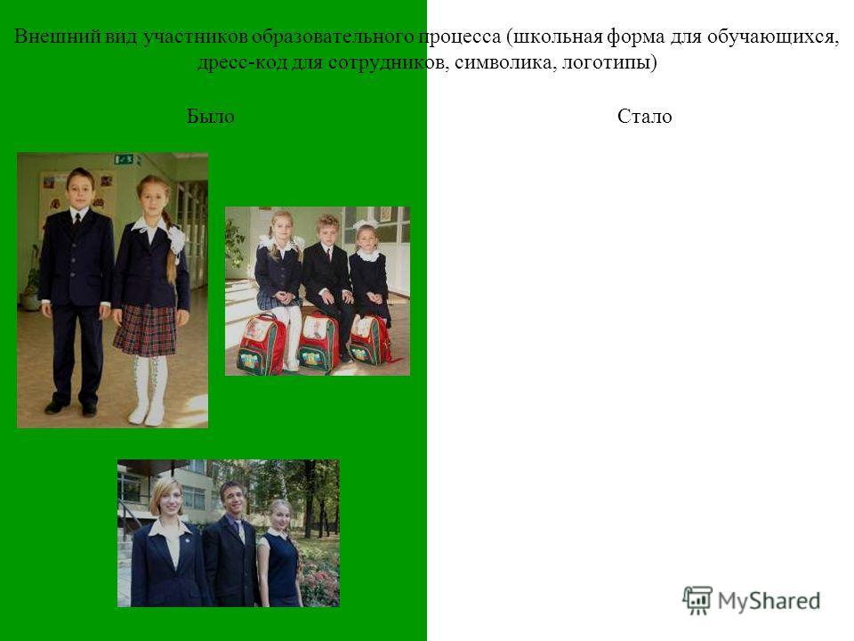 Внешний вид участников образовательного процесса (школьная форма для обучающихся, дресс-код для сотрудников, символика, логотипы) БылоСтало