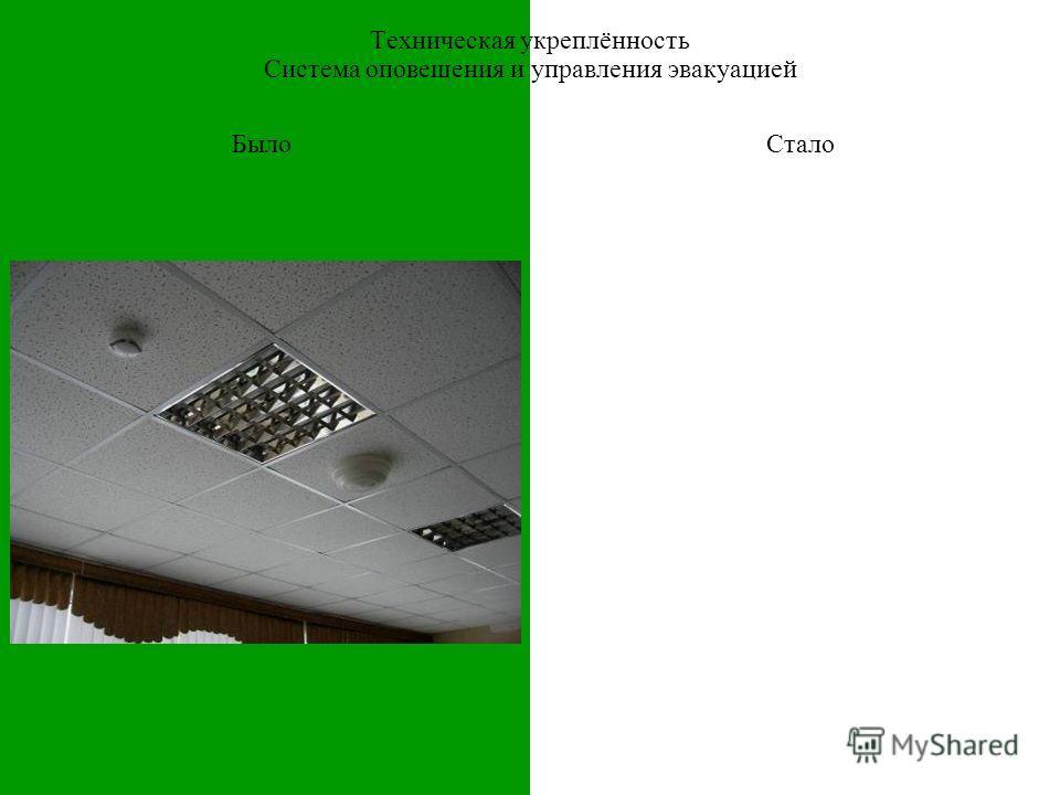 БылоСтало Техническая укреплённость Система оповещения и управления эвакуацией