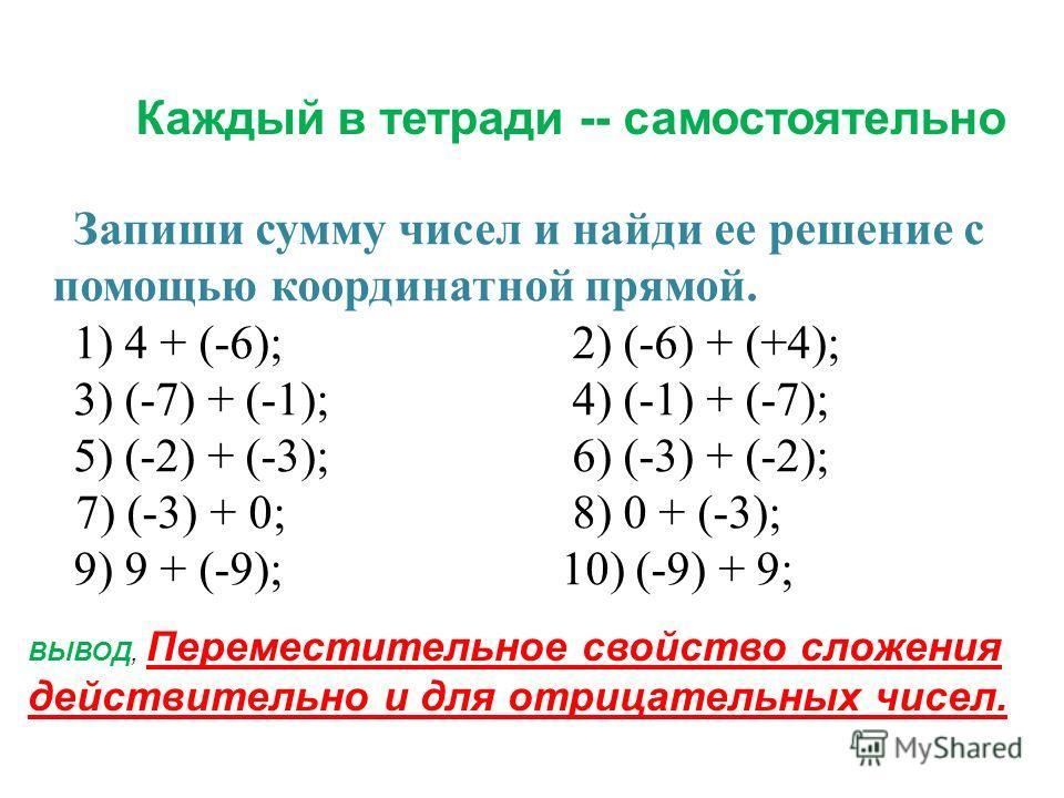 Сегодня на уроке мы продолжим складывать положительные и отрицательные числа с помощью координатной прямой, будем решать текстовые задачи, повторим модуль числа.
