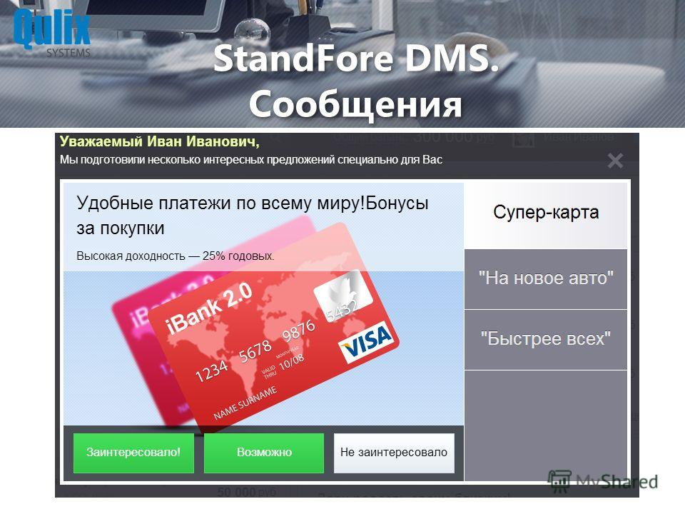 StandFore DMS. Сообщения